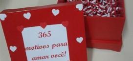 Caixinha surpresa decorada para o Dia dos Namorados