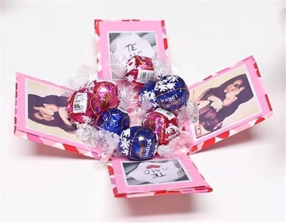 Caixinha surpresa decorada para o Dia dos Namorados 007