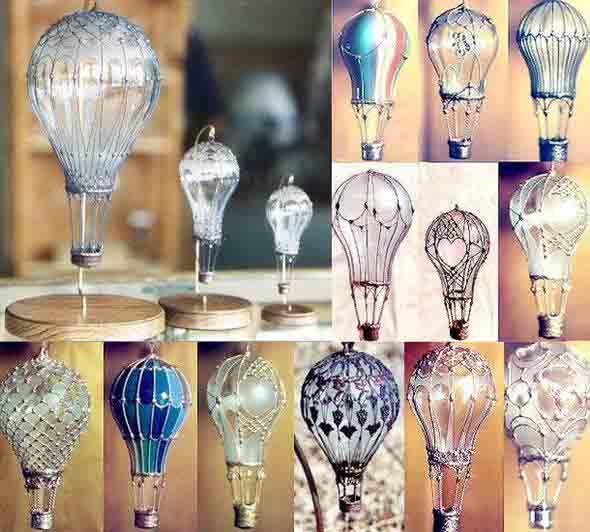Decoração com lâmpadas queimadas 006