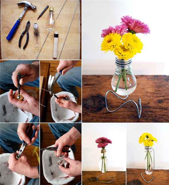 decoracao para lampadas : decoracao para lampadas:Idéias de decoração charmosa com lâmpadas queimadas