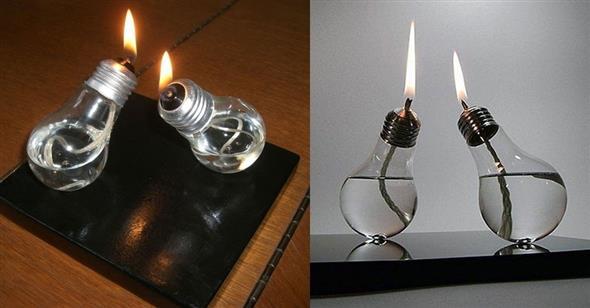 Decoração com lâmpadas queimadas 015