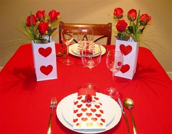 Decoração para o jantar do Dia dos Namorados 005