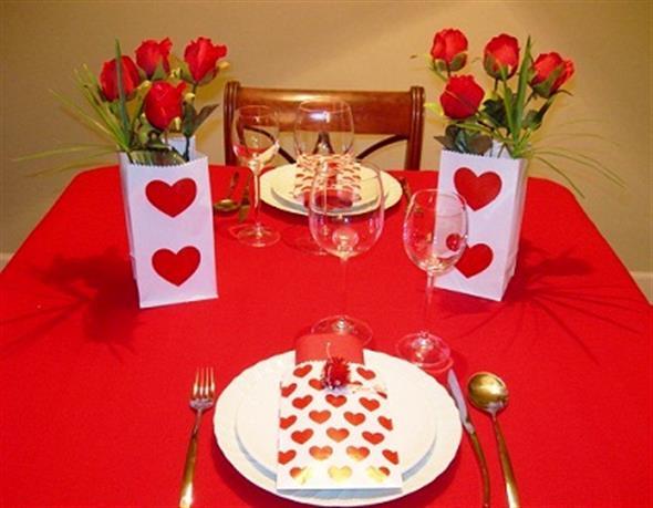 30 ideias de decora o para o jantar do dia dos namorados for Decoracion mesa san valentin