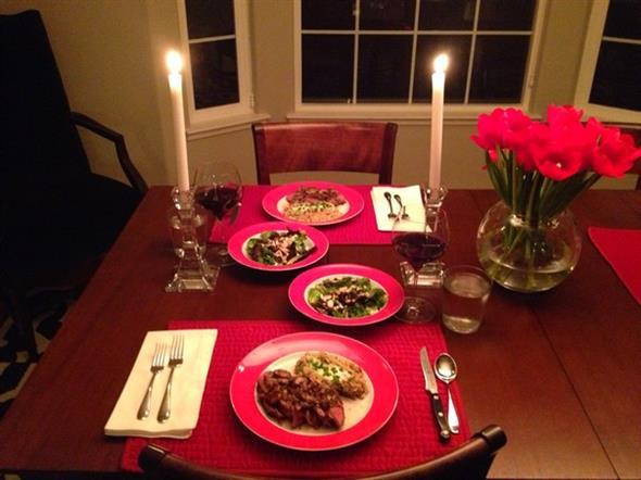 Decoração para o jantar do Dia dos Namorados 010