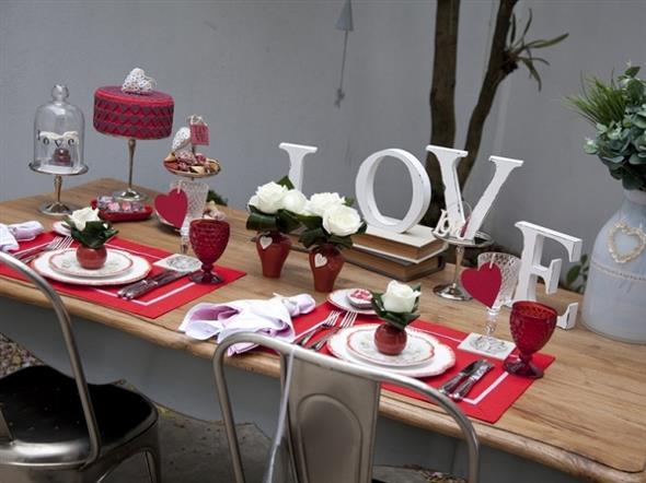 Decoração para o jantar do Dia dos Namorados 013