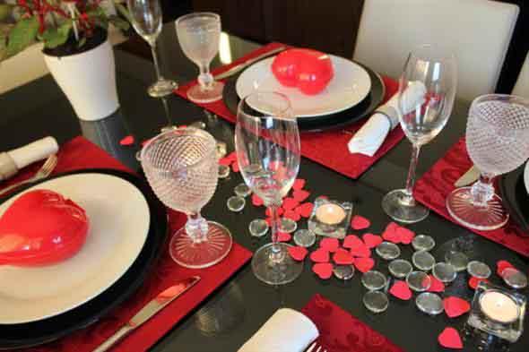 Decoração para o jantar do Dia dos Namorados 015