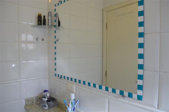 Decorar o banheiro com pastilhas  18 modelos diferentes -> Banheiros Decorados Com Pastilhas Adesivas
