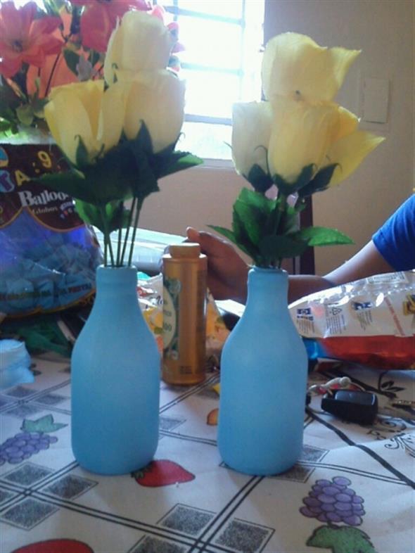 Como encapar garrafas com bexigas 016