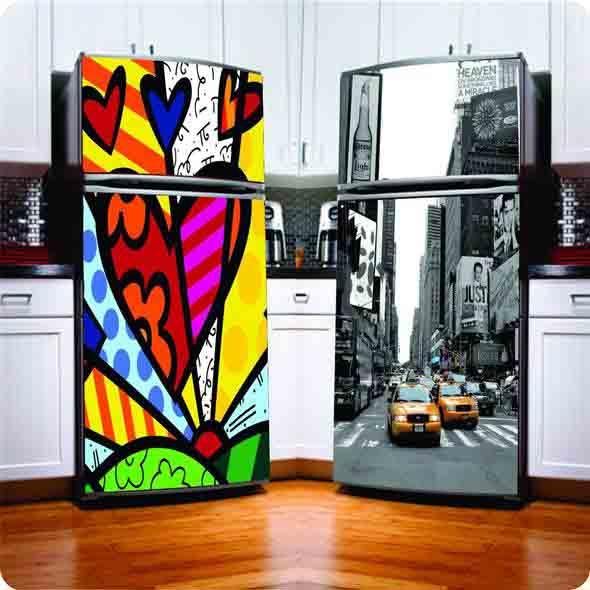 geladeiras adesivadas : Geladeiras adesivadas