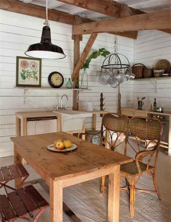 Lindas mesas de madeira r sticas para decorar sua casa - Mesas de cocina rusticas ...