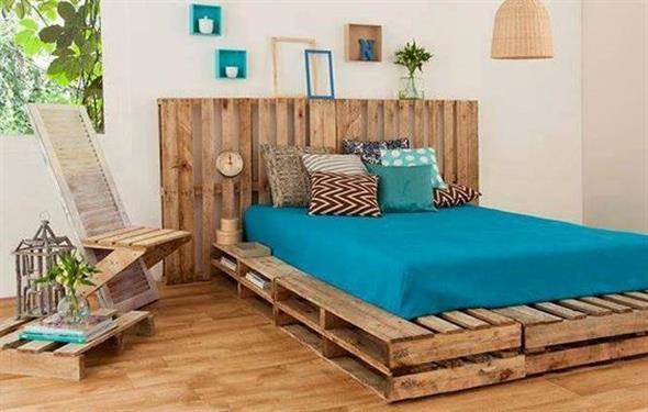 Como fazer uma cama de paletes 003