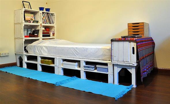 Como fazer uma cama de paletes 006