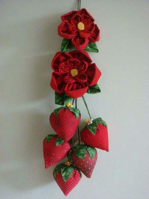 Adesivo De Parede Resinado ~ 20 ideias de artesanato com flores de fuxico