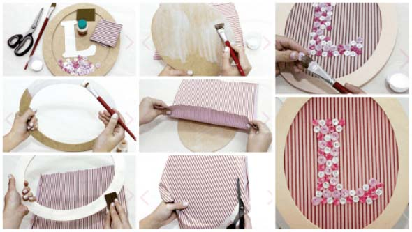 Armario Multiuso Para Cozinha ~ Quadro de botões para decorar quarto do beb u00ea