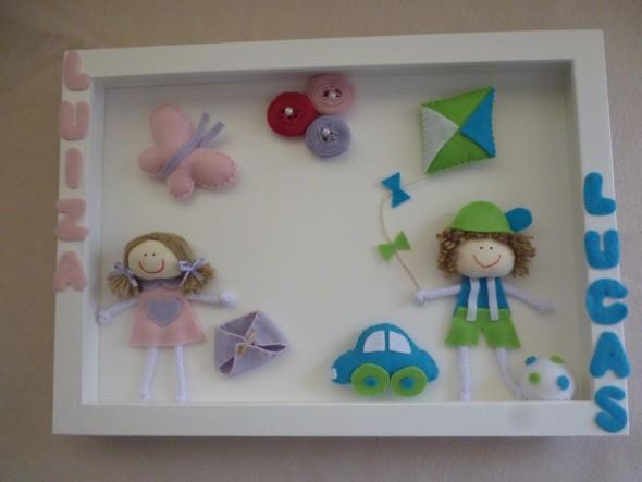 Quadro em feltro para quarto de bebê ~ Ver Quadros Para Quarto De Bebe