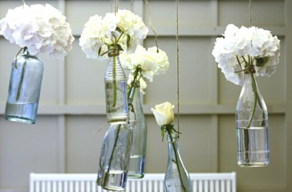 decoração com garrafas de vidro 006