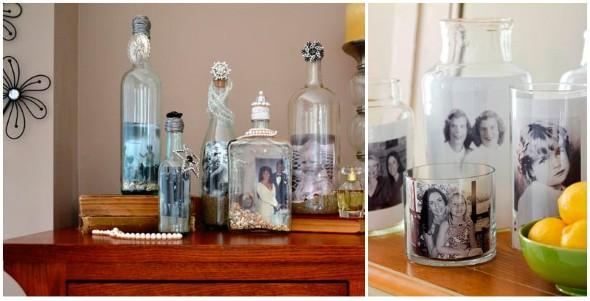 decoração com garrafas de vidro 013