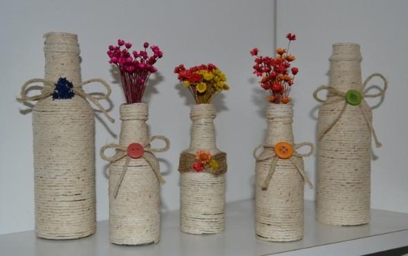 decoração com garrafas de vidro 014