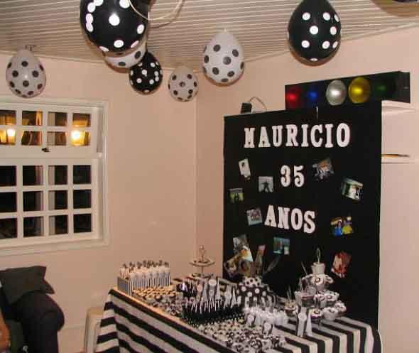 Decoraç u00e3o festa aniversário simples e barata -> Decoração De Aniversario Simples Para Homens