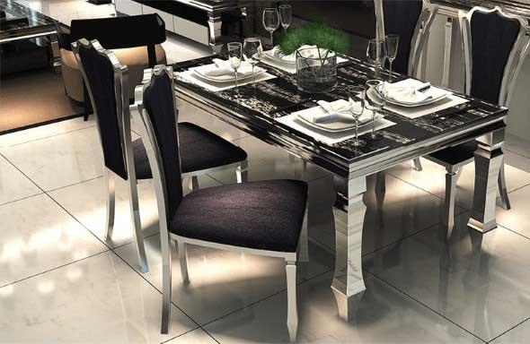 Modelos de mesas de jantar modernas for Mesas de comedor de vidrio y metal