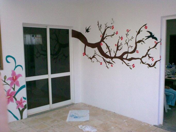 Artes e pinturas nas paredes - Simulador de pintura para paredes ...