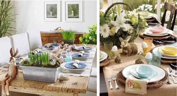 Decorar mesa de almoço para comemorar a Páscoa 004