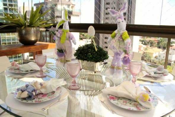 Decorar mesa de almoço para comemorar a Páscoa 005
