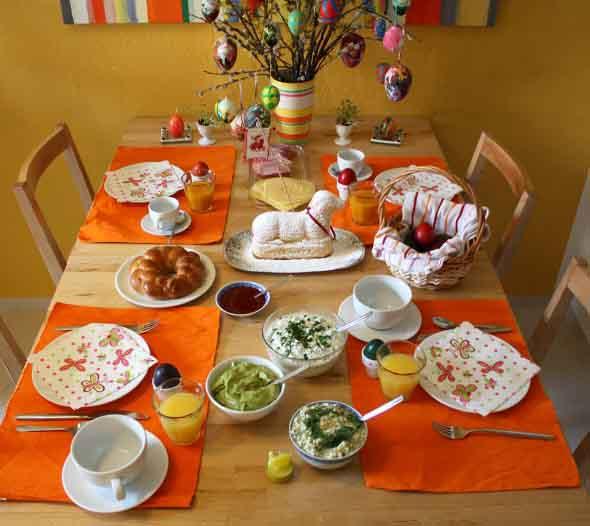 Decorar mesa de almoço para comemorar a Páscoa 006
