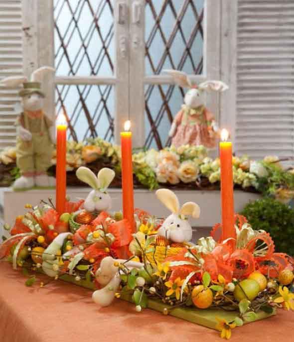 Decorar mesa de almoço para comemorar a Páscoa 008
