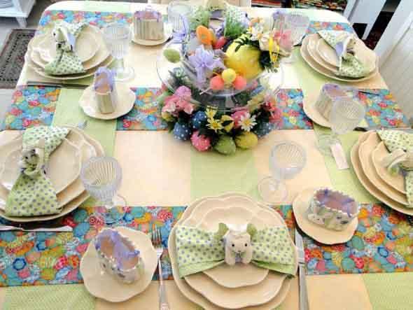 Decorar mesa de almoço para comemorar a Páscoa 009