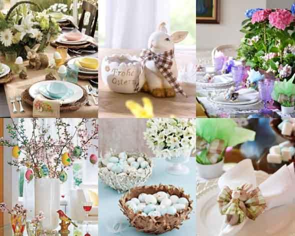 Decorar mesa de almoço para comemorar a Páscoa 010