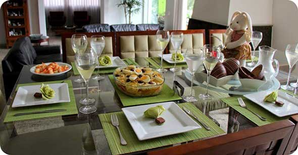 Decorar mesa de almoço para comemorar a Páscoa 011