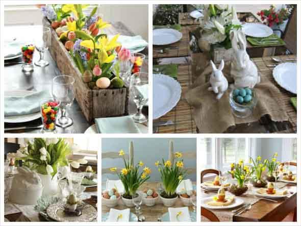 Decorar mesa de almoço para comemorar a Páscoa 012