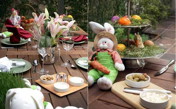 Decorar mesa de almoço para comemorar a Páscoa 013