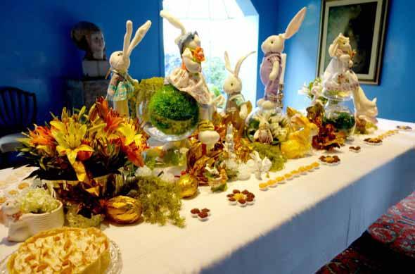 Decorar mesa de almoço para comemorar a Páscoa 2017