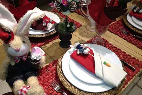 Decorar mesa de almoço para comemorar a Páscoa 015
