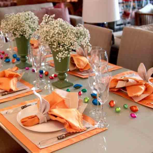 Decorar mesa de almoço para comemorar a Páscoa 016