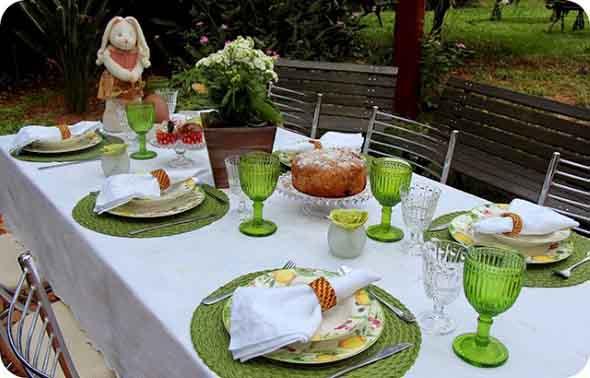 Decorar mesa de almoço para comemorar a Páscoa 017