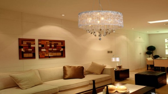 modelos de lustres para sala de estar