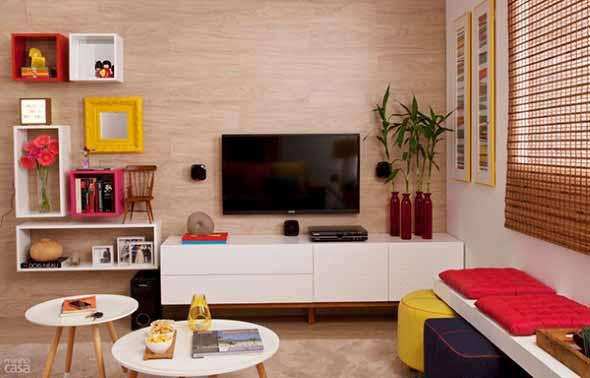Salas De Estar Usadas ~ Decoração colorida para sala de estar