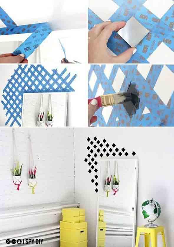 Como pintar as paredes com moldes 002