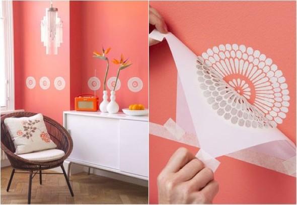Como pintar as paredes com moldes 006