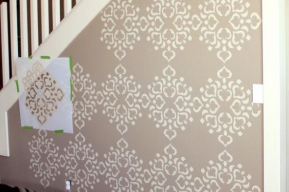 Diy como pintar as paredes com moldes vazados - Como pintar azulejos a mano ...