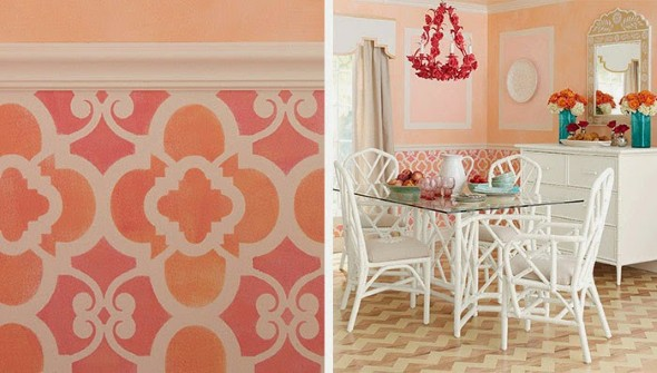 Como pintar as paredes com moldes 012