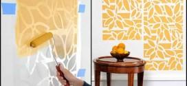 DIY – Como pintar as paredes com moldes vazados