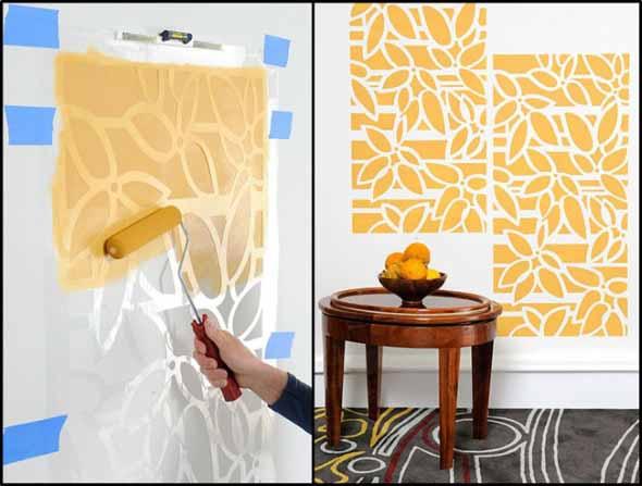 Como pintar as paredes com moldes 013
