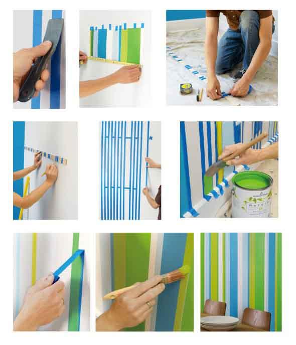 Como pintar as paredes com moldes 016