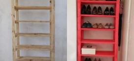 DIY – Como fazer uma sapateira prática e criativa  em casa