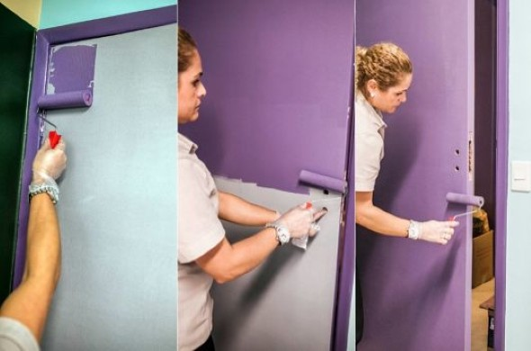 DIY - Como pintar uma porta de madeira 011