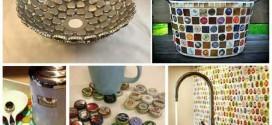 Dicas criativas com tampinhas de garrafas